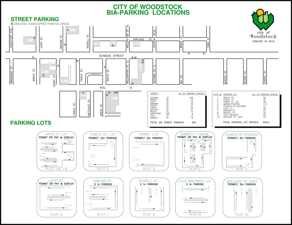 Map of Municipal Parking Lots