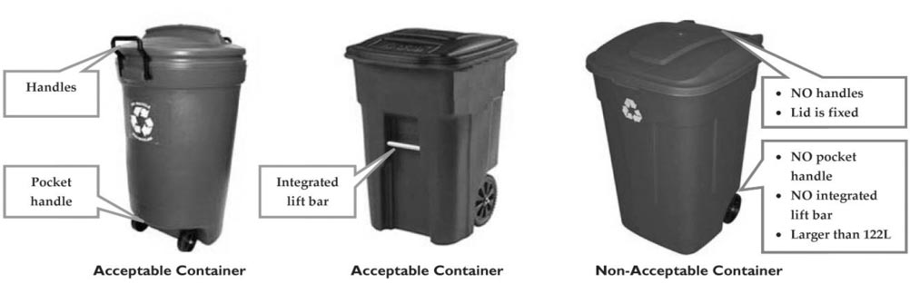 Approved Recycling Bins
