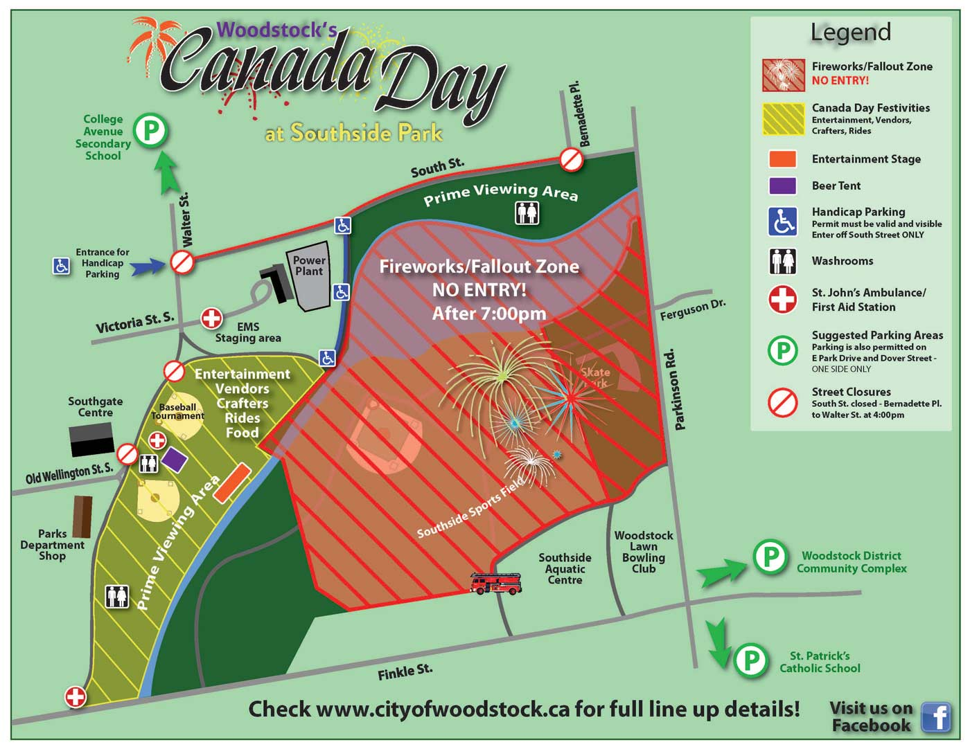 Canada Day Park Map Woodstock