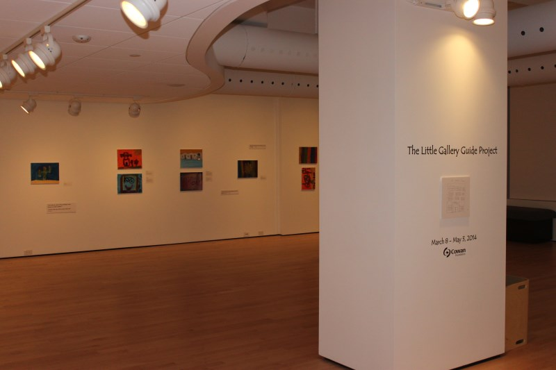 Artworks hanging on the wall in a gallery
