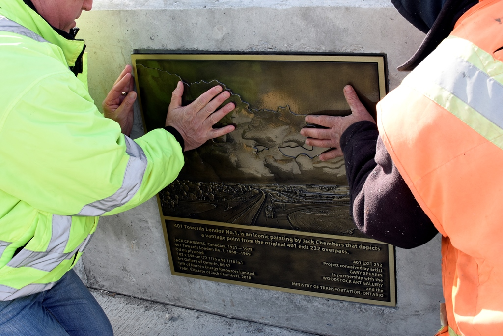 Placing the plaque in its place